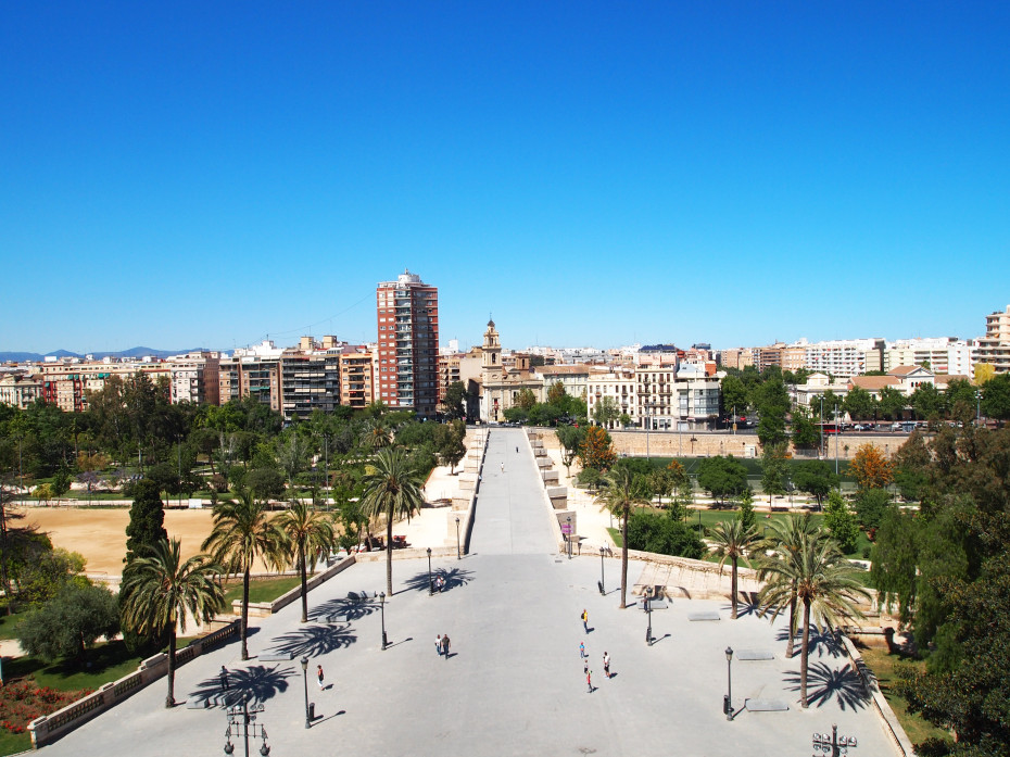 View from the Serrano Towers in Valencia