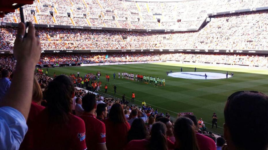 In the Mestalla Stadium in Valencia
