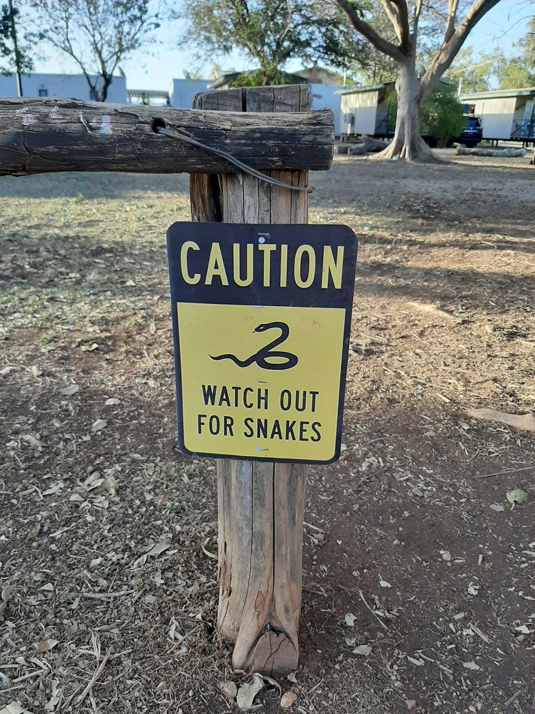 Caution watch out for snakes