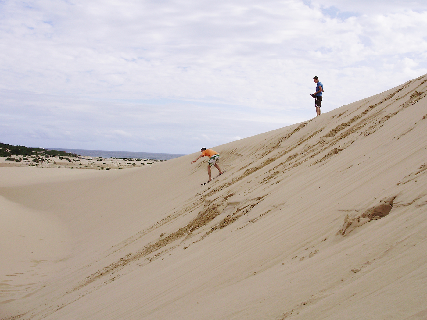 Sandboarding at Port Stephens