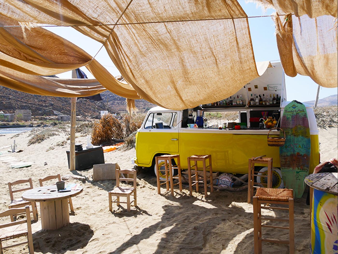 Idyllic beach at Tinos