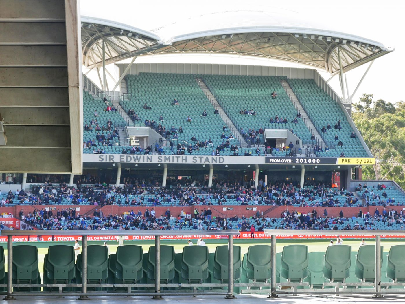 In the Adelaide Oval