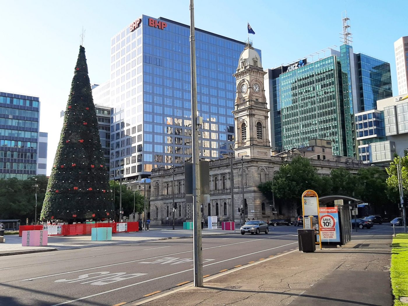Christmas tree in Adelaide