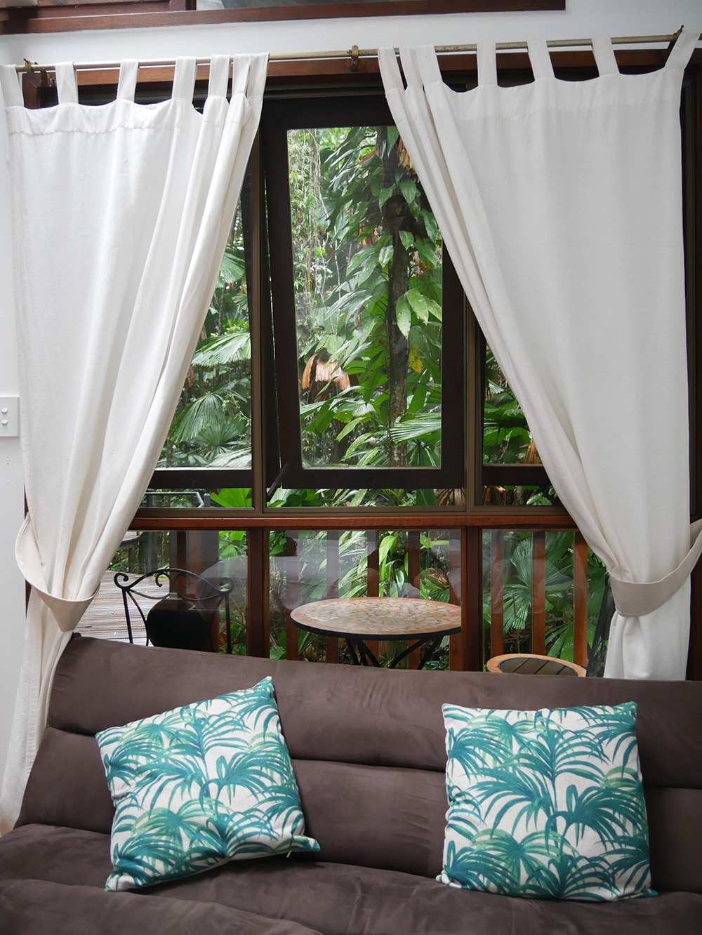 Our bench and terrace on the front - Daintree Wilderness Lodge