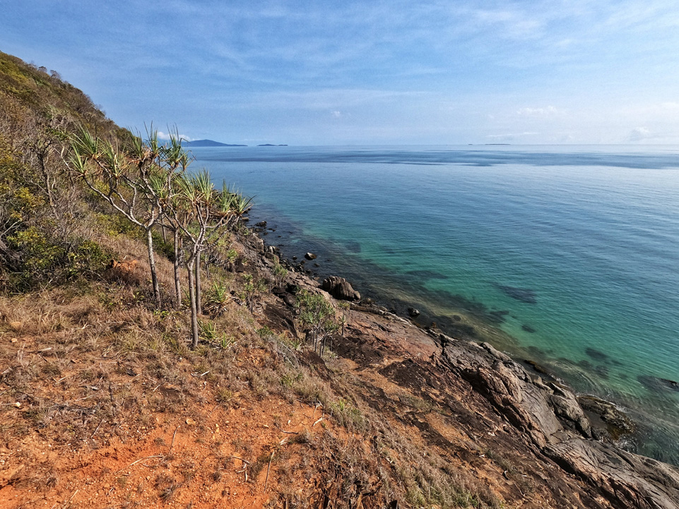 Coral sea, with different shades of blue -  Port Douglas