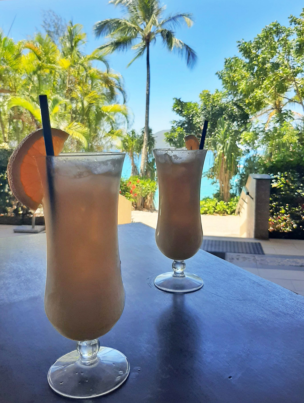 Drinking cocktails at Fitzroy Island