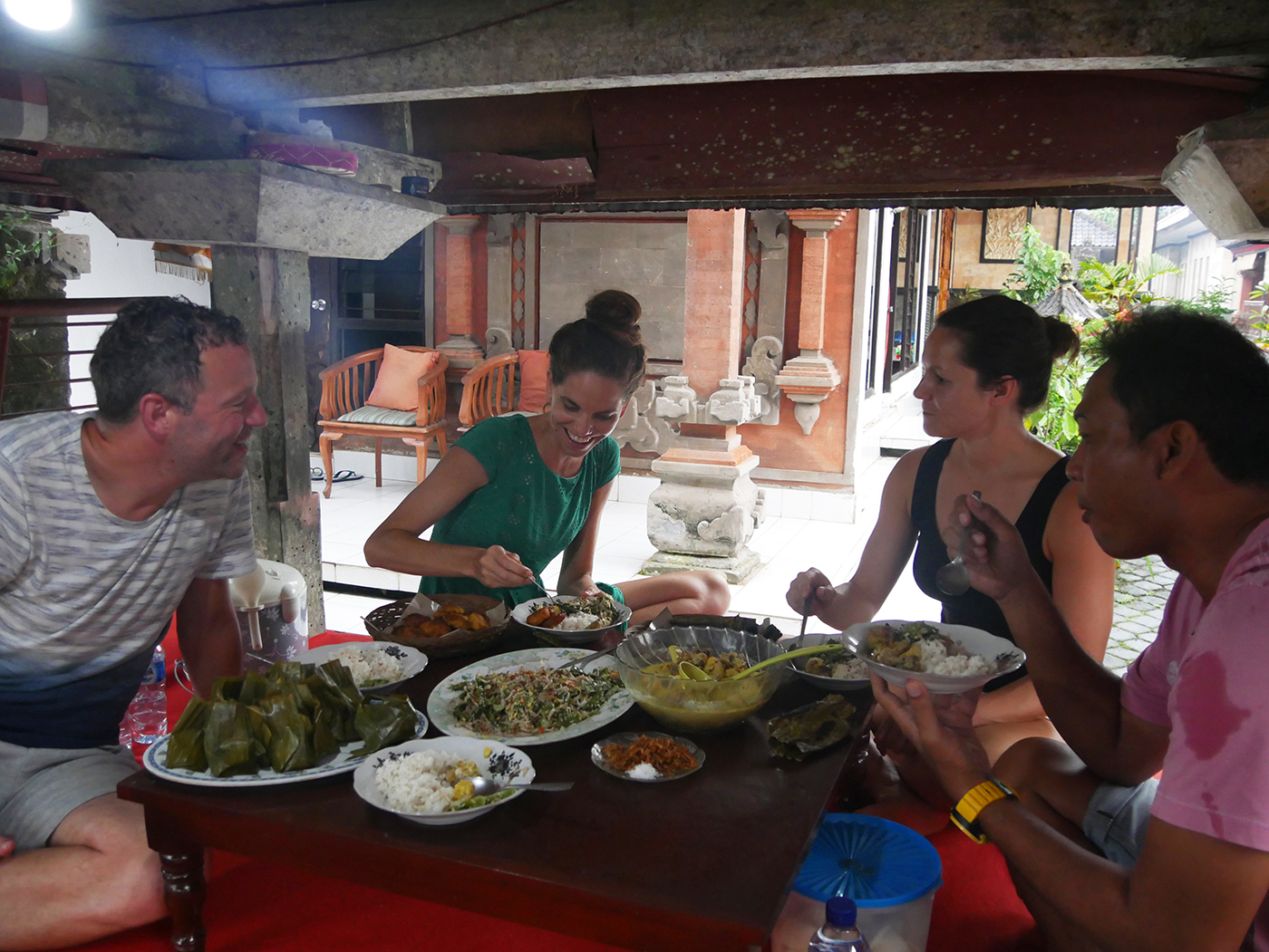 Eating with locals on Bali