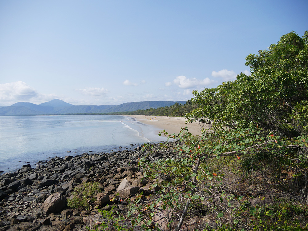 Start of the trail - view of Four Mile Beach -  Port Douglas