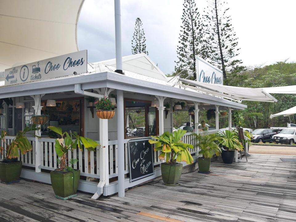 Coffee shop at the harbor - Port Douglas