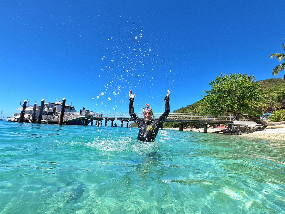 Snorkeling at Fitzroy Island is fun