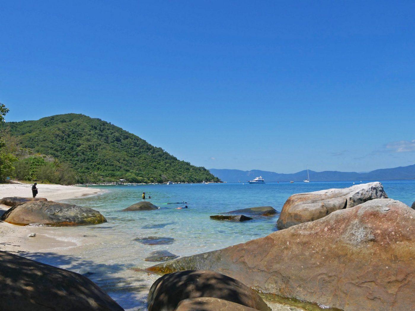 Snorkeling among the rocks